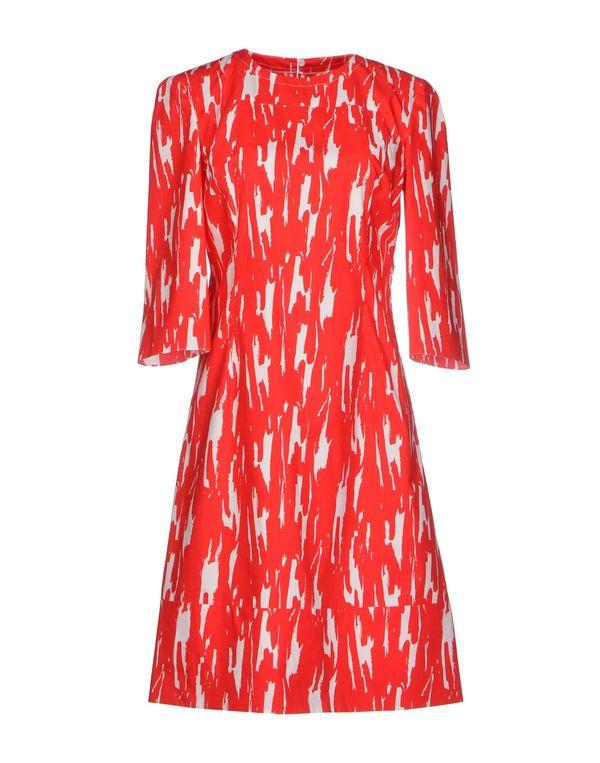 红色 MARNI 及膝连衣裙