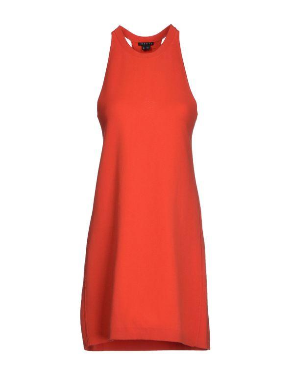 珊瑚红 THEORY 短款连衣裙