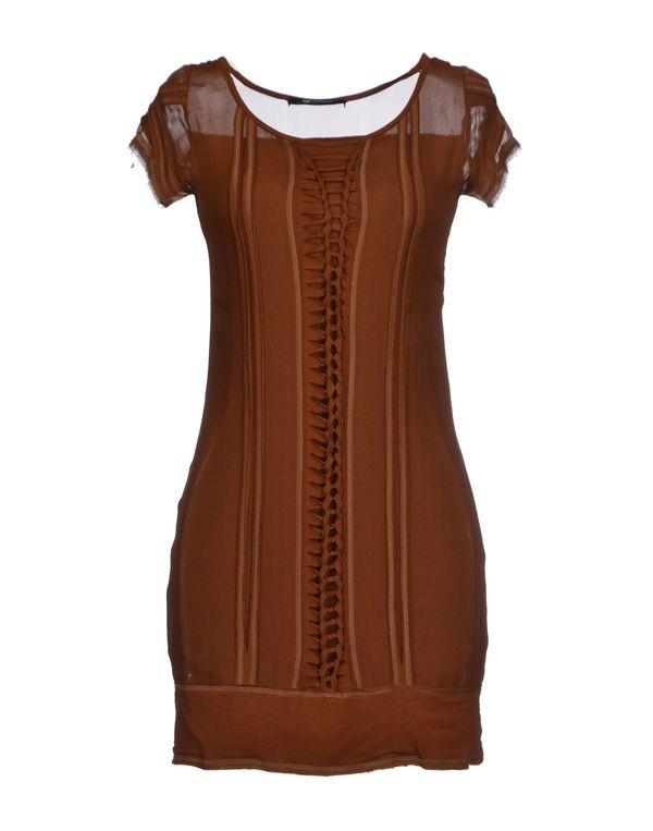 巧克力色 PLEIN SUD JEANIUS 短款连衣裙