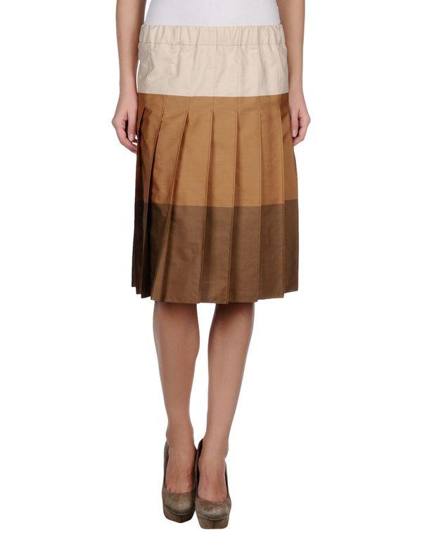 驼色 MARNI 及膝半裙