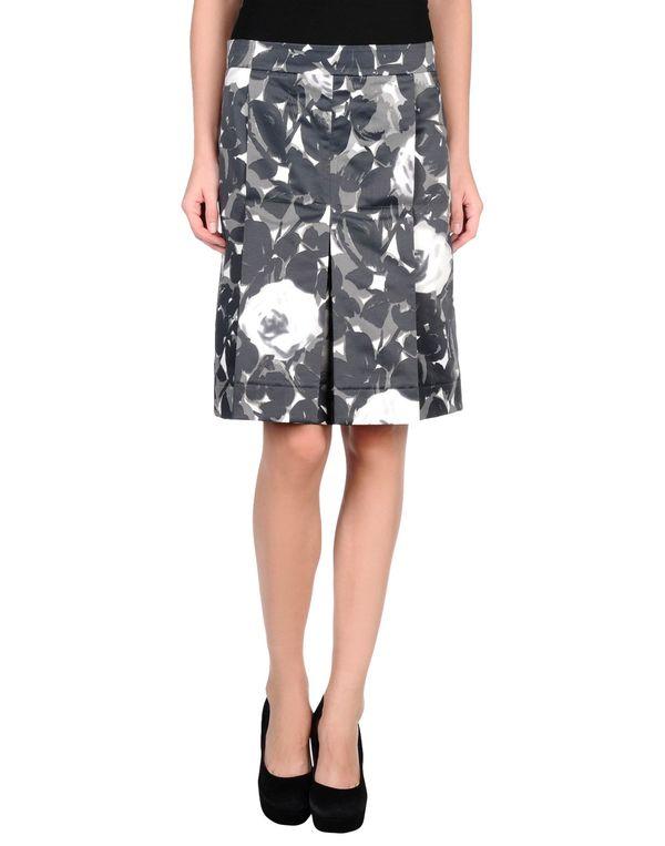 青灰色 MARNI 及膝半裙