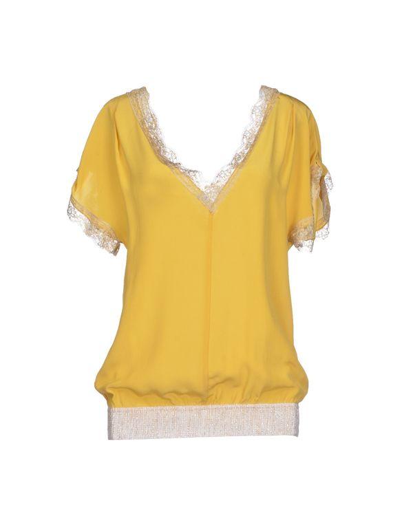 黄色 PINKO BLACK 女士衬衫