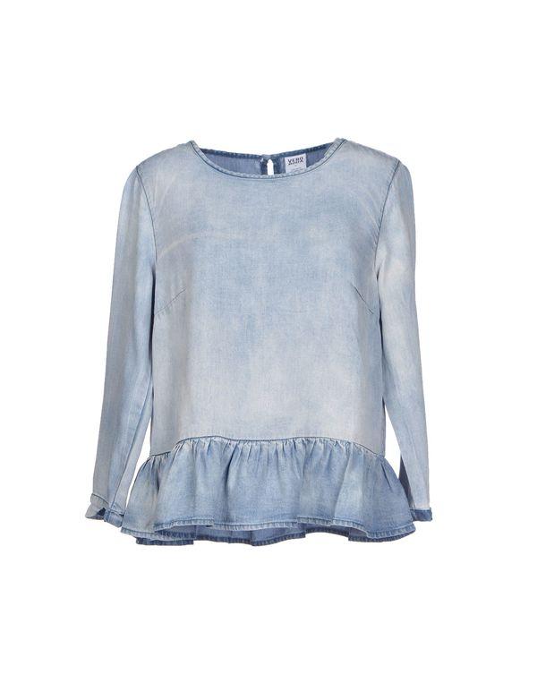 蓝色 VERO MODA 女士衬衫