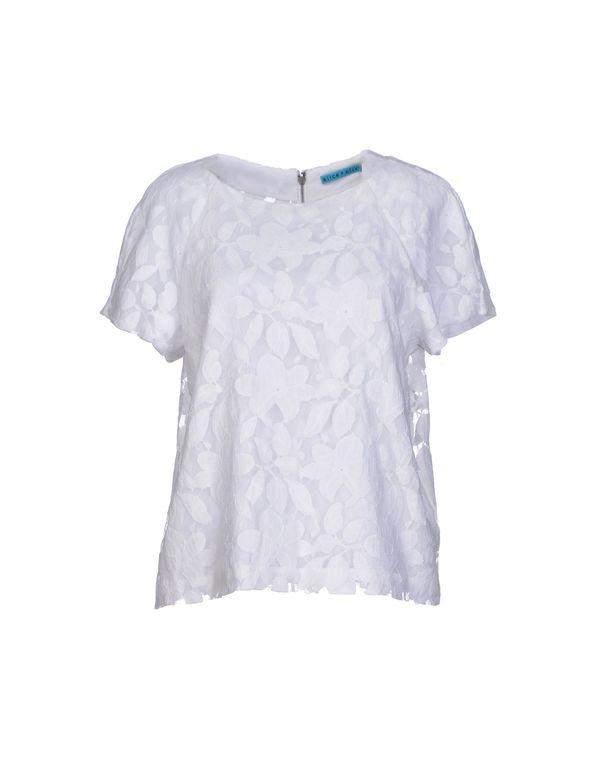 白色 ALICE+OLIVIA 女士衬衫