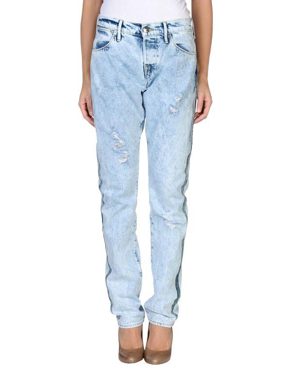 蓝色 TRUE RELIGION 牛仔裤