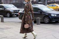 长大衣 长靴