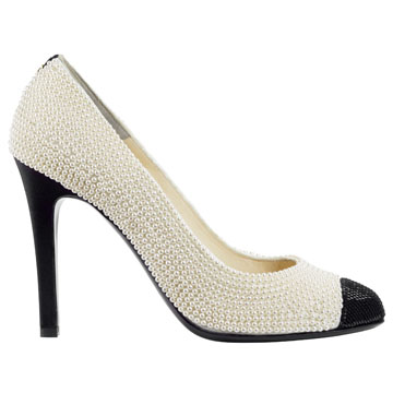 Chanel香奈儿珍珠面高跟鞋
