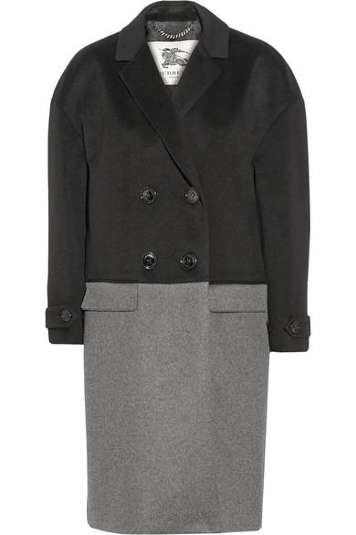 双色羊绒外套