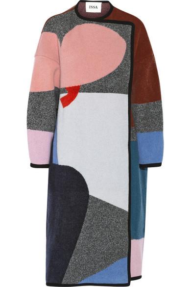 Clemence 带图案羊毛羊绒混纺外套