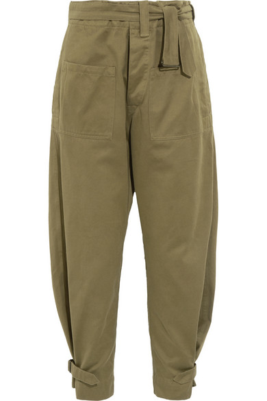 Jepson 棉缎锥形裤
