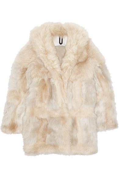 拼接羊毛皮外套