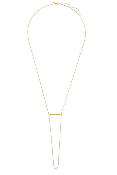 Klaxon 镀金项链