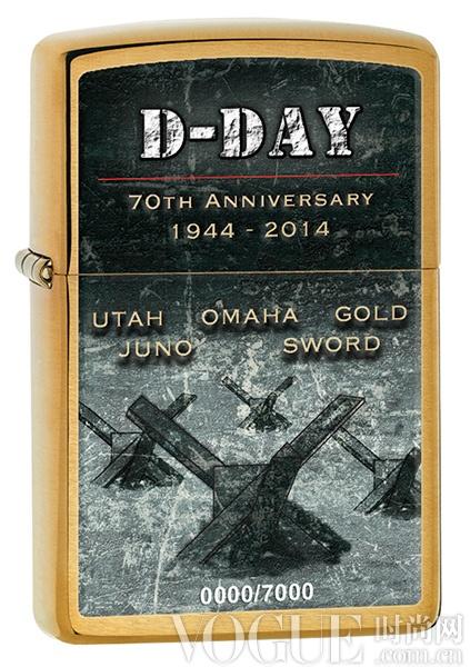 """""""咔嗒""""声铭记诺曼底登陆日 Zippo推出D-Day70周年纪念版打火机"""