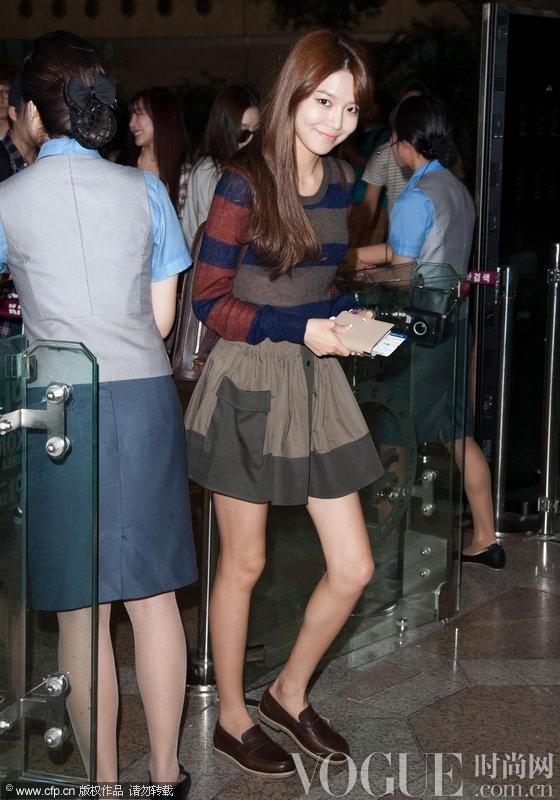 韩星街拍:少女时代有型秋搭法则