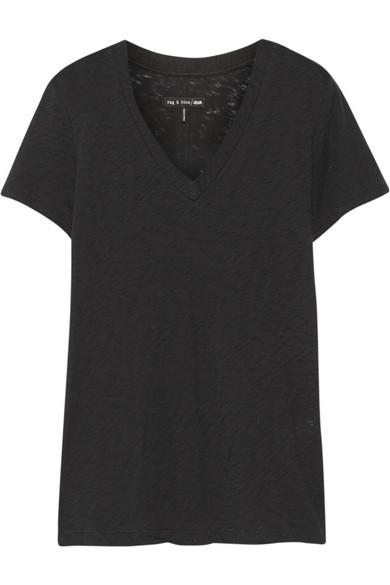 Jackson V 竹节纯棉针织 T 恤