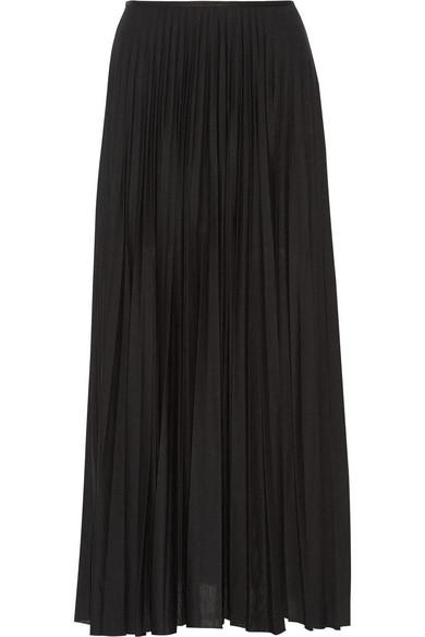 Miklo 褶裥针织超长半身裙