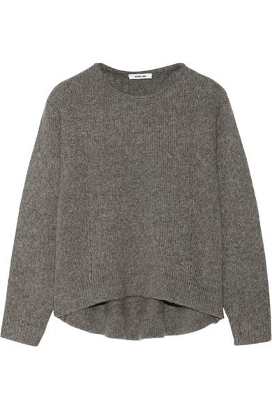 镂空羊毛混纺毛衣