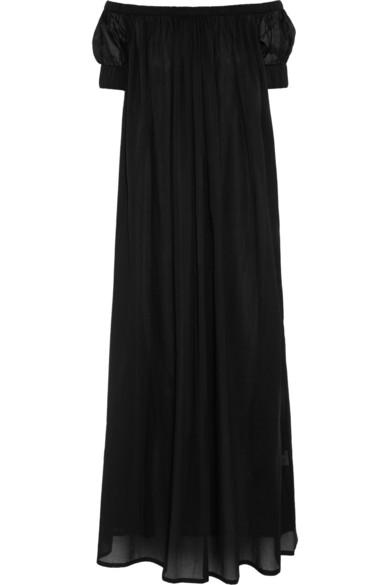 纯棉巴里纱超长连衣裙