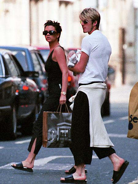 转折三:与David Beckham相恋生下儿子Brooklyn