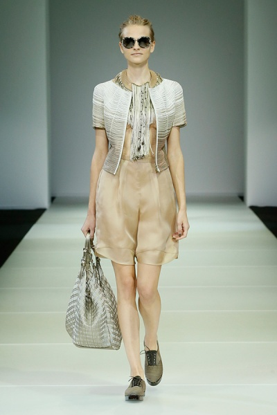 GIORGIO ARMANI  2015春夏女装高级成衣系列--沙