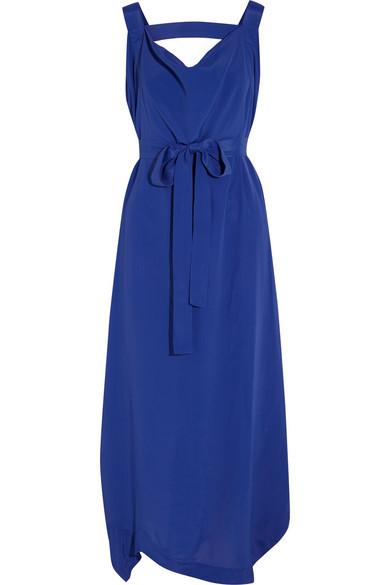Tigris 垂褶绉纱超长连衣裙