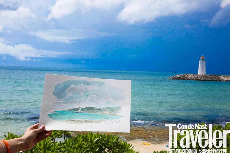 用手绘记录旅行,点亮亚龙湾旅行新航标