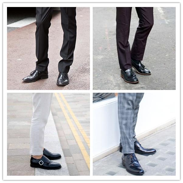 西裤搭配皮鞋男
