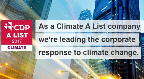 伊莱克斯获得国际非营利环保组织CDP认可,被授予应对气候变化A类企业