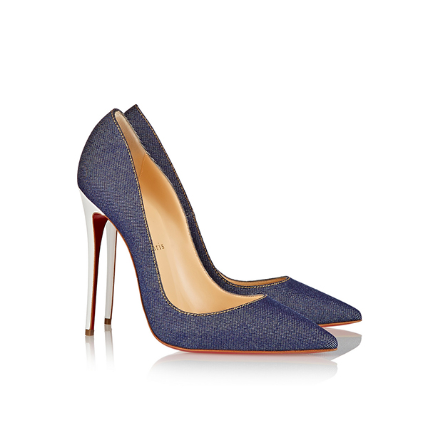 1c49f1589002 Christian Louboutin So Kate Denim High Heels