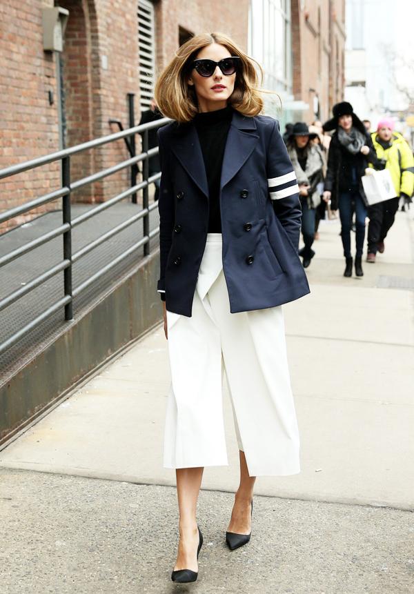 搭_看olivia palermo怎么演绎阔腿裤——内搭背心外加西装外套,让秋天的