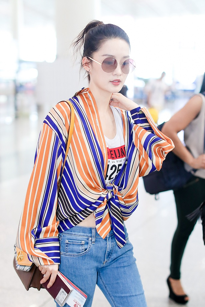 chiffon striped shirt