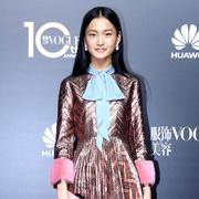 中国超模新面孔王新宇现身VOGUE十周年盛典