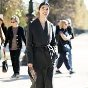 帅气又显瘦的冬日黑色大衣