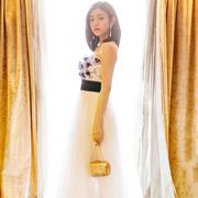 陈妍希身着TADASHI SHOJI 2016春夏抹胸长裙亮相GmIcX年度盛典