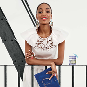 kate spade new york再度携手超模Jourdan Dunn发布2016夏季广告大片