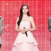 Angelababy佩戴 TASAKI 珠宝参加上海电视台中秋晚会录制