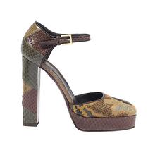 性感奢华的足下风采 ETRO 2015女士水蛇皮拼接鞋履系列