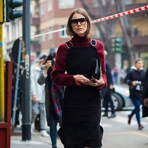 其实,冬天穿裙子是为了保暖-风格示范