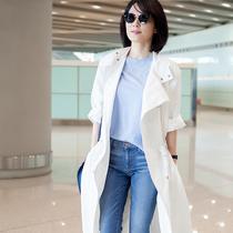 俞飞鸿穿搭HOGAN 2017春夏 Traditional 86 标志性复古小白鞋打造机场 LOOK