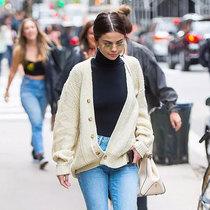 """冬天的时髦 毛衣配长裤就""""刚好""""-风格示范"""