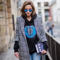 一件卫衣 就能让你的大衣时髦得不一样-风格示范