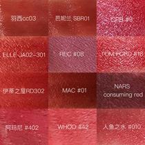 【VOGUE美妝體驗團】真人評測,楓葉色系口紅試色大全-最熱新品