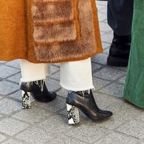 冬季絕對要收的百搭鞋款!各種風格一雙黑色短靴就搞定-繆斯示范