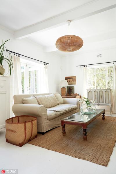 美式簡約風 白色與原木的完美結合