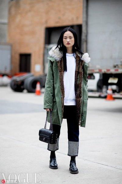 温暖又显脸小 加个毛领就是和普通外套不一样