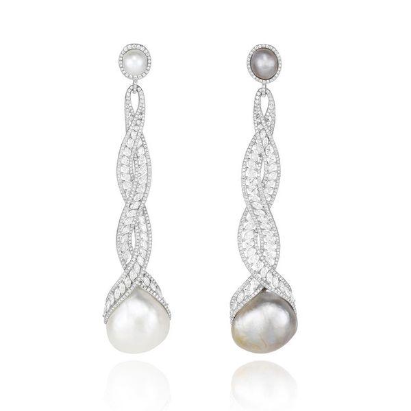 """高级珠宝耳环中的""""不对称""""风潮"""