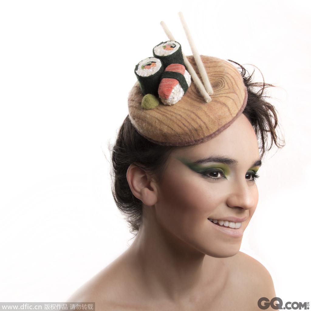 开心寿司帽。