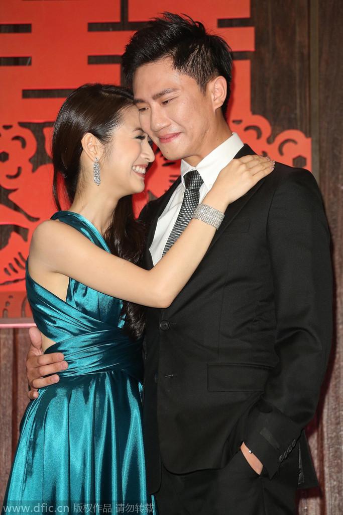 2014年10月29日,台北,林依晨、林于超订婚宴记者会。