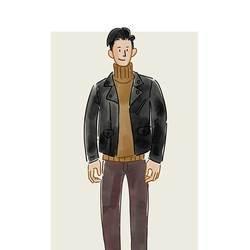 每日穿搭|皮夹克配高领毛衣 一个造型走天涯