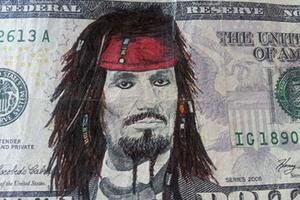 美国总统大变身!超级烧钱的钞票涂鸦